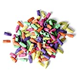 Neliblu Neon Pencil Eraser Tops Bulk Pack 30 Pencil Caps Non Toxic and Eco Friendly Materials Back to School Supplies