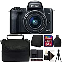 Canon EOS M50 Mirrorless Digital Camera with 15-45mm is STM Lens and 64GB Kit