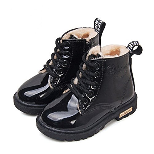 Winter Children Shoes Pu Leather Waterproof Boots Kids Snow Boots Girls Boys Rubber Boots 11