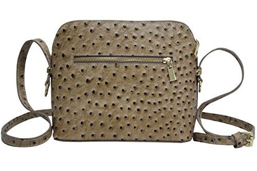 à Moda sac SL702 Sac Dunkelbeige cuir a en Petit femme pour bandoulière main AMBRA dAxqwtgx