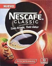 Nescafé Classic Descafeinado Sobres, Estuche de 10 Sobres de 2 gr - Total: - 200 g