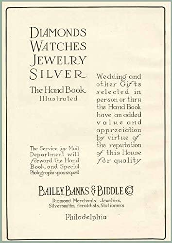 Amazon Com Diamonds Jewelry In 1915 Bailey Banks Biddle Ad Original Paper Ephemera Authentic Vintage Print Magazine Ad Article Posters Prints