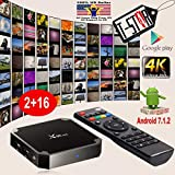 X96 MINI Android Tv Box, Android 7.1.2 Smart TV Box, Quad Core 2GB/16GB 4k Ultra HD Smart Streaming Media Players
