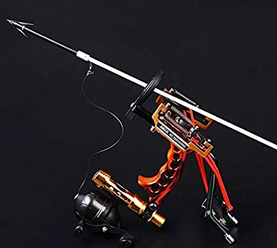 HBG Powerful Pro Fishing Slingshot Reel Catapult Archery Bowfishing Arrows Slingbow with Arrow Brush ,Fishing Reel ,Fishing Reel Rack,Flashlight