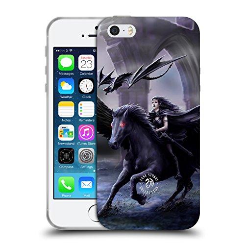 Officiel Anne Stokes Réel d'Obscurité Créatures Mythiques Étui Coque en Gel molle pour Apple iPhone 5 / 5s / SE