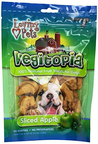 Loving Pets Vegitopia Sliced Apple Dog Treats, (Loving Pets Apple)