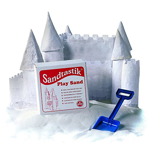 - Sandtastik SND025BN White Play Sand, 25 lbs. Per Box, 2 Boxes