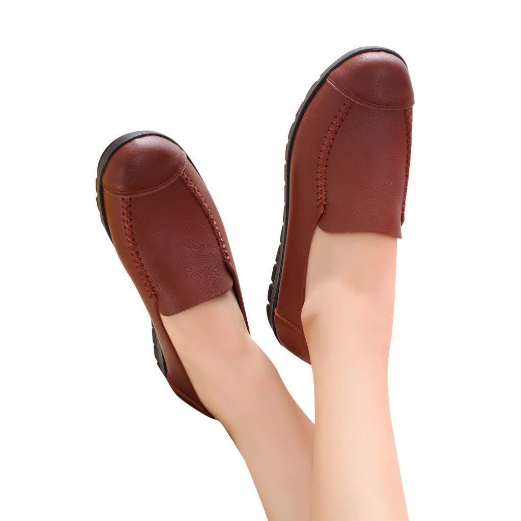 Btruely Zapatos de Mujer❤️Zapatos Planos Redondos de Punta Redonda Zapatos Individuales con Fondo Suave Zapatos Casual Elegante Zapatillas de Retro: ...