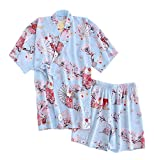DRAGON SONIC Japanese Style Kimono Pajamas Summer Cotton Steaming Clothes,M2