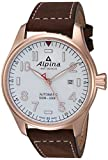 Alpina Men's Startimer Stainless Steel Swiss-Automatic Watch with Leather Strap, Brown, 24 (Model: AL-525S4S4)