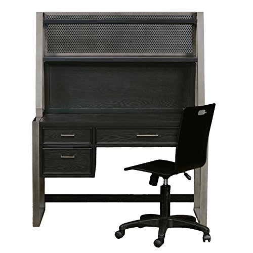 Pulaski Graphite Desk Hutch (Top Only Requires ()