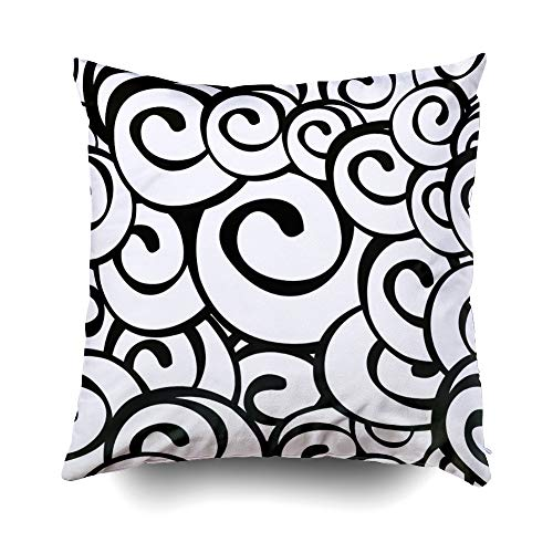 Musesh Halloween Halloween Happy Halloween Halloween Party Cushions Case Throw Pillow Cover for Sofa Home Decorative Pillowslip Gift Ideas Household Pillowcase Zippered Pillow Covers 18X18Inch