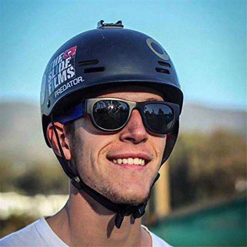 Lunettes de Soleil 2018 Ansenesna Plier les lunettes de moto Biker lunettes de soleil lunettes Sports de plein air Lunettes Blau
