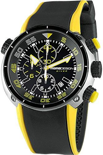 Momo Design Diver Pro Quartz watch, Chronograph, 45mm. 10 atm.