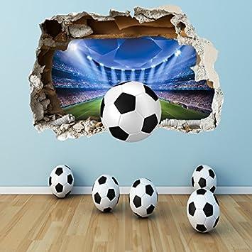 Football Bedroom Wall Stickers. football through the wall photo ...
