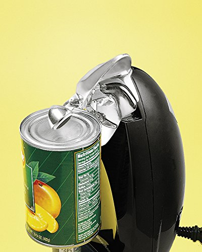 Hamilton Beach 76380Z Classic Chrome Heavyweight Can Opener, Black