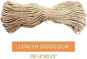 MOGOI Cuerda de Sisal Gatos 6mm, 20 Metros Cuerda de sisal ...