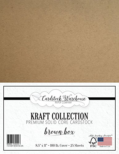 Brown Kraft Recycled Cardstock - 8.5