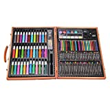 150PCS Children Art Set in Wooden Box,BAFFECT Colour Pencils Oil Pastels Crayons Colour Markers Watercolour Paints Children Painting Set For Kids Entrance Ceremonial Birthday Gifts