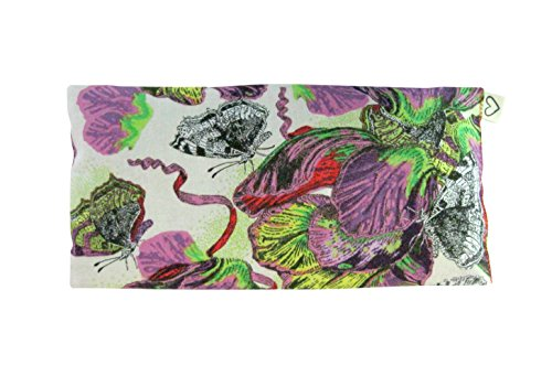Scented Eye Pillows - Pack of (4) - Soft Cotton 4 x 8.5 - Lavender Flax Seed - Relax Soothe - yoga - tropical flowers palm leaves blue green pink fruit bird by Peacegoods (Image #4)
