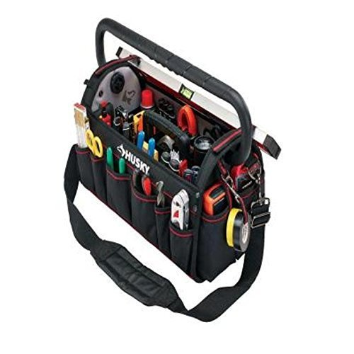 Husky 20in Pro Electrician Heavy Duty Tool Bag Tote Storage