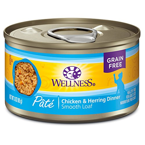 wellness natural grain free wet canned cat food chicken herring pate 3 ounce can pack of 24. Black Bedroom Furniture Sets. Home Design Ideas