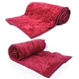 Little India Lightweight Soft Embossed Single Bed Blanket Pair 1072