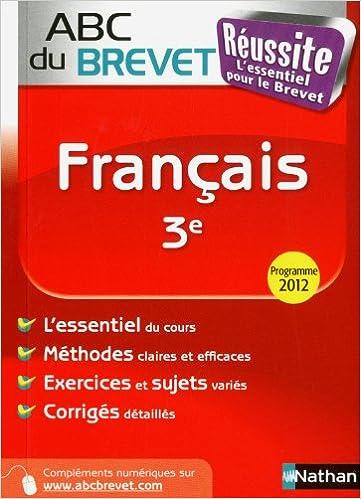 Lire un ABC du BREVET Réussite Français 3e pdf, epub ebook