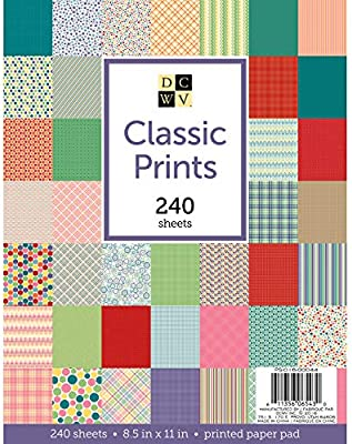 "American Crafts DCWV 8.5/""x11/"" Textiles Cardstock Stack Pattern Paper Sheets"