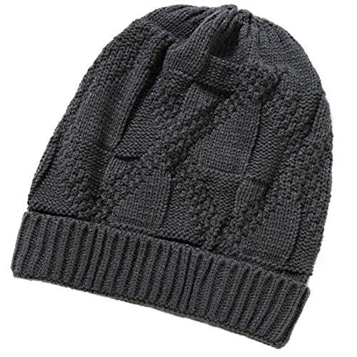 Mens Beanie Gris profundo invierno Unisex de Gorro Brandnew Gorro de Womens de caliente punto gorros lana 2017 sombreros KeepSa suave wfnAqCX