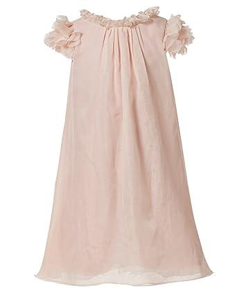 dc08da8ae47 princhar Girl s Chiffon Short Sleeve Flower Girl Dress Kids Junior  Bridesmaid Dresses US 2T Pink