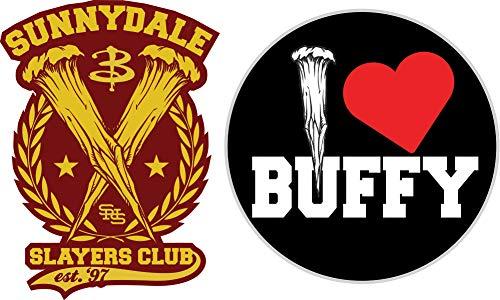 Buffy the Vampire Slayer Pin Slayers Heart Set of 2 New ()