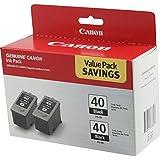 2 X Canon PG-40 Black Ink Cartridge