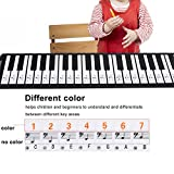 61/88 Keys Piano Stickers for Keys 2pcs Transparent Removable Piano Key Board Stickers for 61/88 Key Electronic Pianos