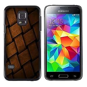 TopCaseStore / la caja del caucho duro de la cubierta de protección de la piel - Braid Basket Pattern Design Material Structure - Samsung Galaxy S5 Mini, SM-G800, NOT S5 REGULAR!