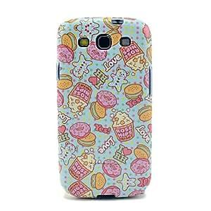conseguir Cartoon Donut & escaramujos Patrón IMD caso de TPU para la galaxia de Samsung Galaxy S3 I9300