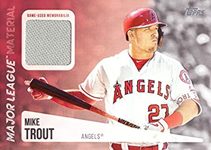 buy online 47447 5e9ca Amazon.com: 2019 Topps Relics #MLM-MT Mike Trout Game Worn ...