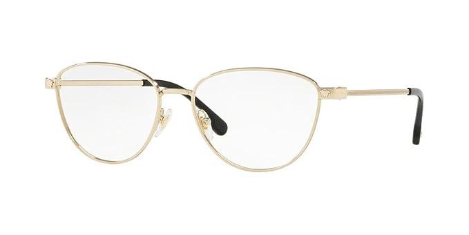 Amazon.com: Versace VE1253 Eyeglass Frames 1252-54 - Pale Gold ...