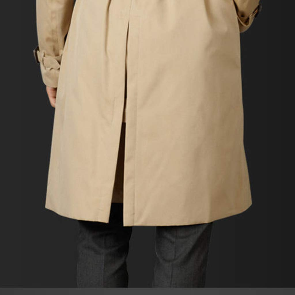 7XL,Brown-5XL Adatto a M Invernale Trench Monopetto Uomo Lunghezza Media Casuali Risvolto Elegante Caldo Leggera Cappotti Solido Colore vestibilit/à Business Classica BLKK Cappotto Uomo