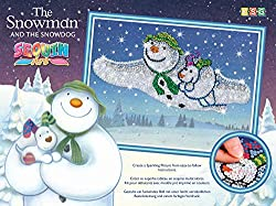Snowman and Dog Sparkling Craft Picture Kit