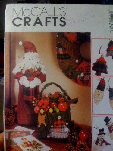- McCall's Crafts Pattern 8328 ~ Christmas Tree Ornaments; Santa & Santa's Bag Centerpieces; Quilted Wreath & Stocking