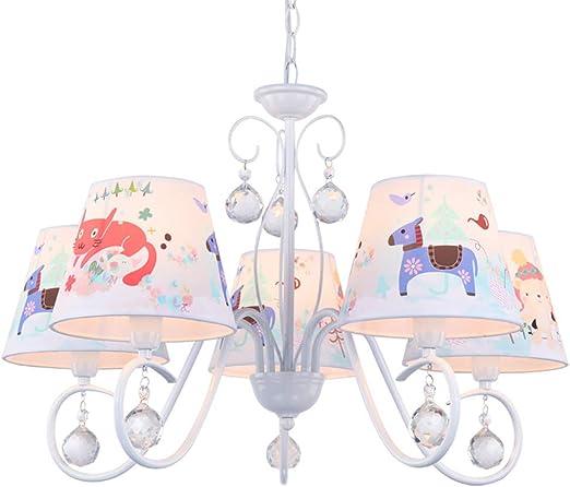 différents types de classcic officiel de vente chaude Suspension Plafonnier Enfant 5 Têtes Lustre Conception Abat ...