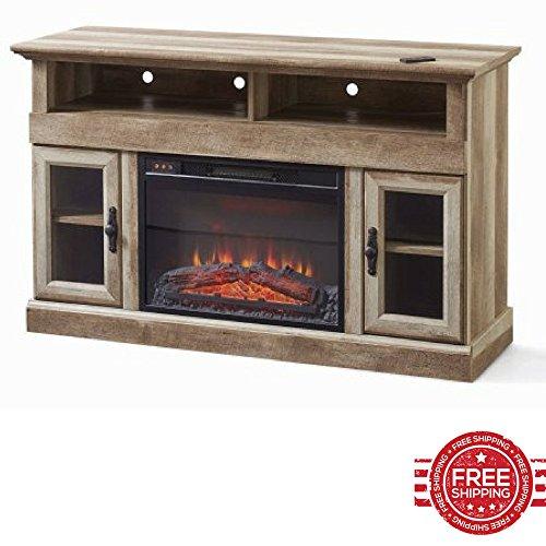 Electric Heater Console Table Tv Doors Adjustable Shelves Narrow Media Storage Minimal Decor