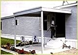Attached Patio Cover/Carport 10x10 Galvanized Steel and Vinyl Coating Eggshell Finish,Flatroof