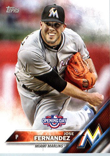 2016 Topps Opening Day Od 191 Jose Fernandez Miami Marlins Baseball Card Mint