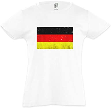 0c3f3ce68df Amazon.com: German Flag Vintage Kids Girls Children T-Shirt ...