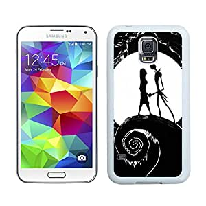 Nightmare Before Christmas Jack And Sally 02 White Unique Hard Samsung Galaxy S5 I9600 Phone Case