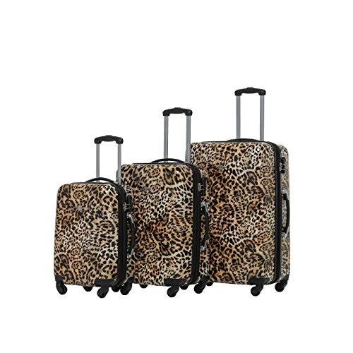 RivoLite 3-Piece PC Upright Luggage Set 20 inch 24 inch 28 inch (3 Piece Print Luggage Set)