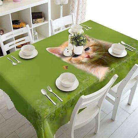 JJLESUN2 Mantel Verde Banquete Impermeable Mesa Redonda ...