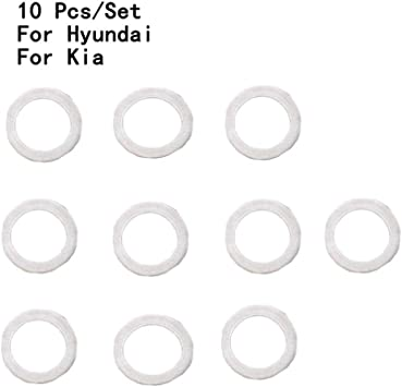 DONGMAO 10 PCS New Genuine OEM For Hyundai For K//ia Oil Filter Gasket 21513-23001 Oil Pan Screw Gasket Screw Pad Oil Cushion